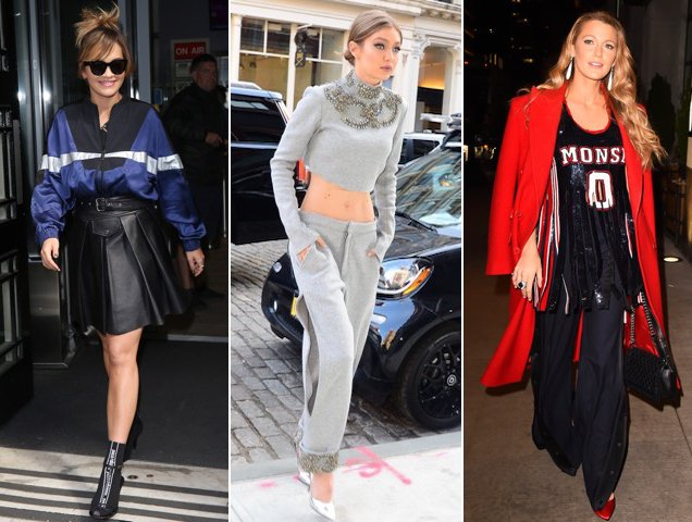 Celebs demonstrating how to do glamleisure IRL: Rita Ora, Gigi Hadid, Blake Lively
