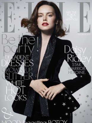UK Elle December 2017 : Daisy Ridley by Liz Collins