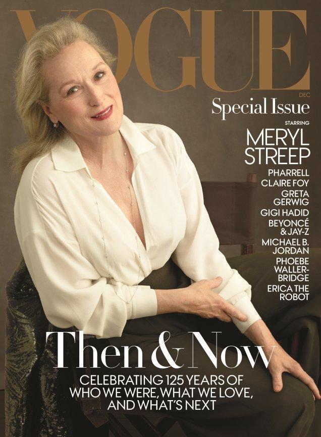 US Vogue December 2017 : Meryl Streep by Annie Leibovitz