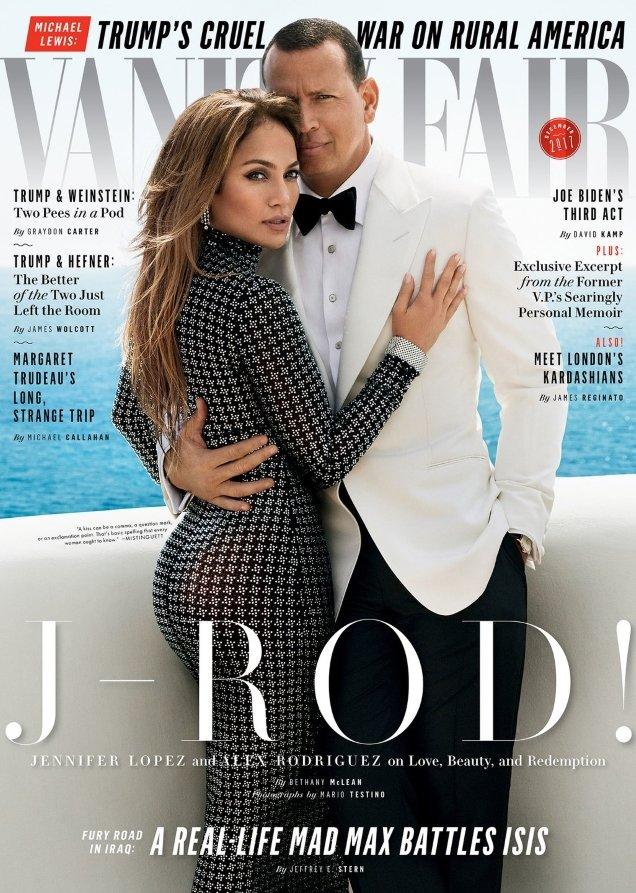Vanity Fair December 2017 : Jennifer Lopez & Alex Rodriguez by Mario Testino