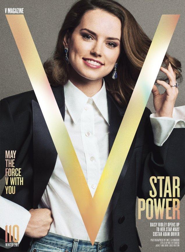 V Magazine #110 Winter 2017 : Daisy Ridley by Inez van Lamsweerde & Vinoodh Matadin