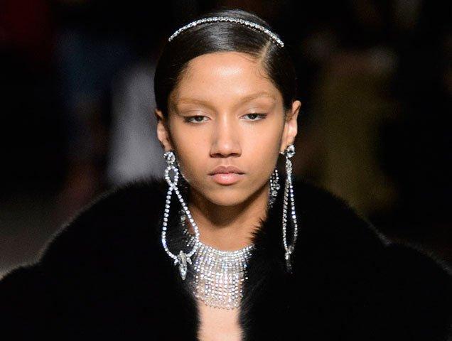 Miu Miu Fall 2017 shoulder duster earrings