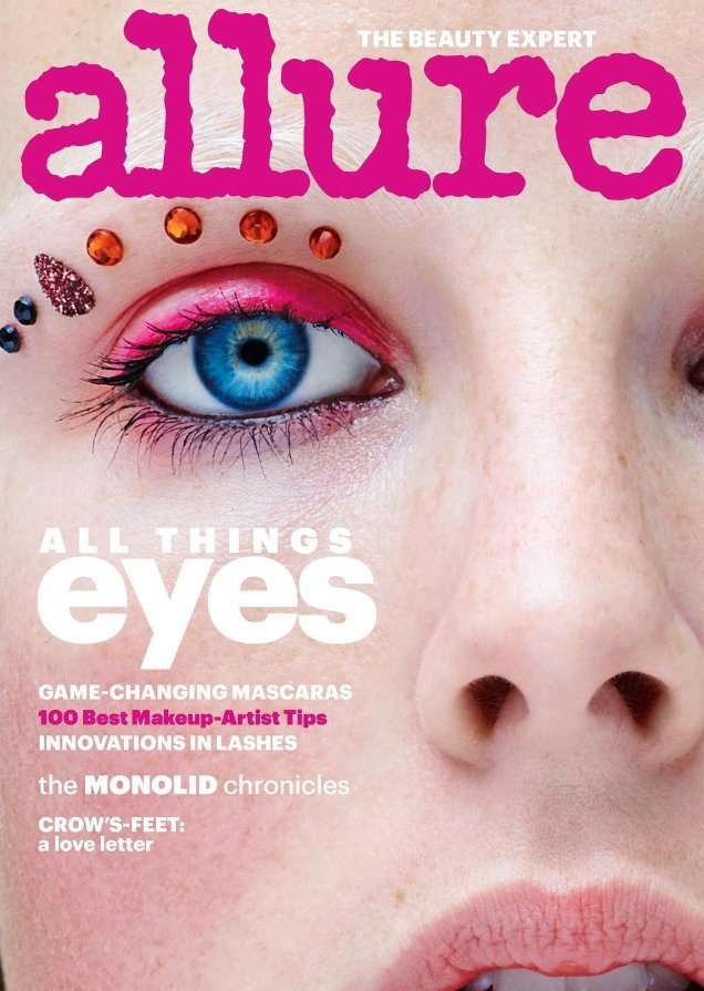 Allure January 2018 : Edie Campbell by Daniel Jackson