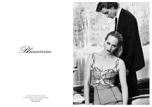 Blumarine S/S 2018 : Amber Valletta & Phillip Mayberry by Luigi & Iango
