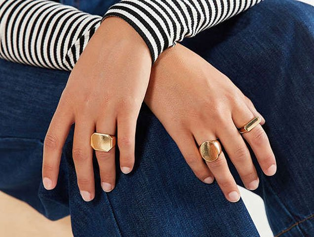 Signet Ring Set, $22 at Urban Outfitters