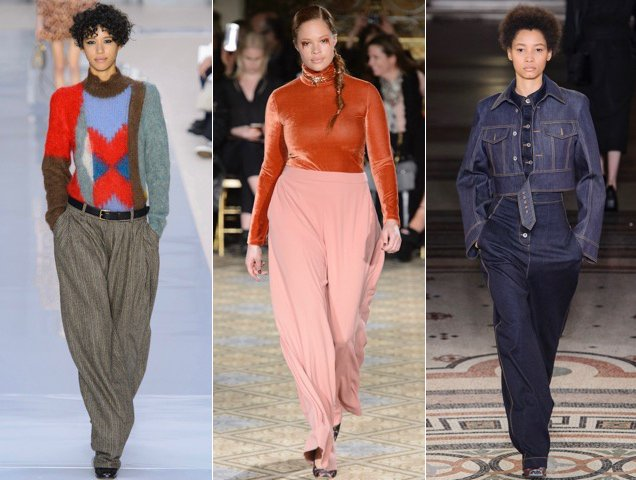 a5c6cfa2a84 Wide-leg pants trumped skinnines on the Fall 2017 runways at Chloe Fall  2017