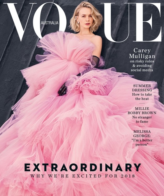 Vogue Australia January 2018 : Carey Mulligan by Emma Summerton