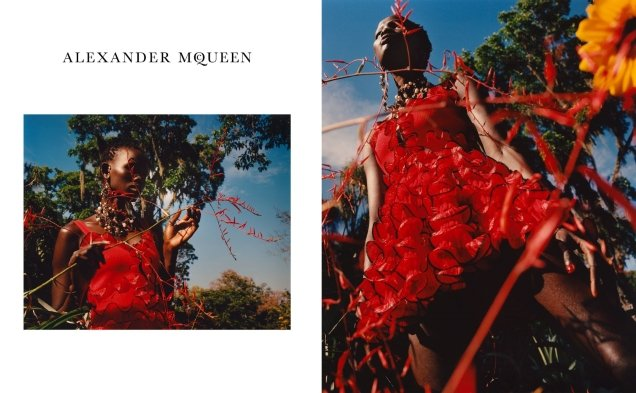 Alexander McQueen S/S 2018 : Shanelle Nyasiase by Jamie Hawkesworth