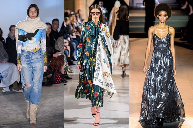 The fauna at R13 Fall 2018, Oscar de la Renta Fall 2018, Carolina Herrera Fall 2018