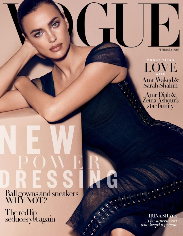 Vogue Arabia February 2018 : Irina Shayk by Miguel Reveriego