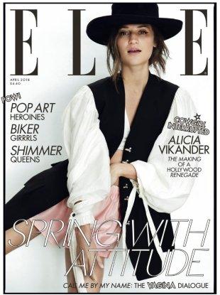 UK Elle April 2018 : Alicia Vikander by Norman Jean Roy