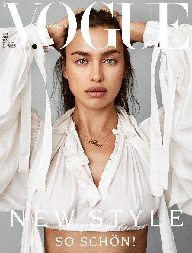 Vogue Germany April 2018 : Irina Shayk by Daniel Jackson