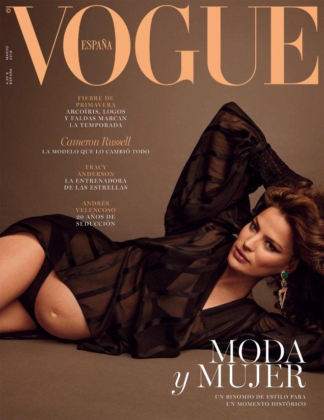 Vogue España March 2018 : Cameron Russell by Inez van Lamsweerde & Vinoodh Matadin