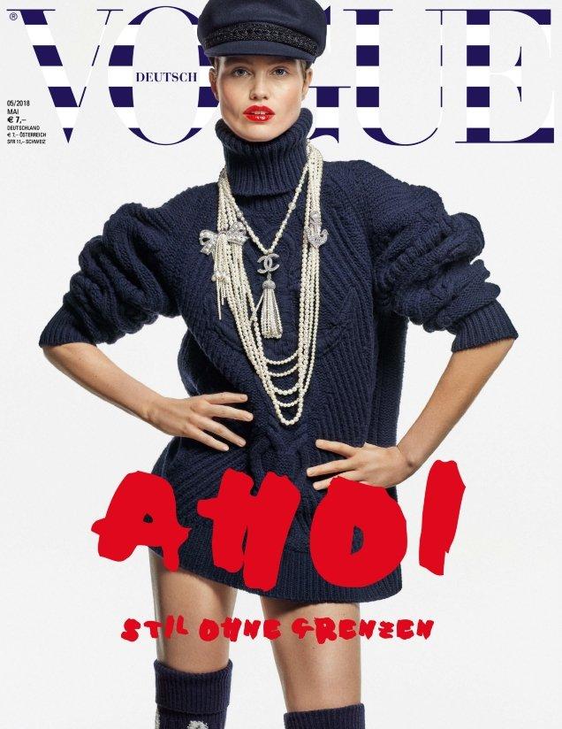 Vogue Germany May 2018 : Luna Bijl by Karl Lagerfeld