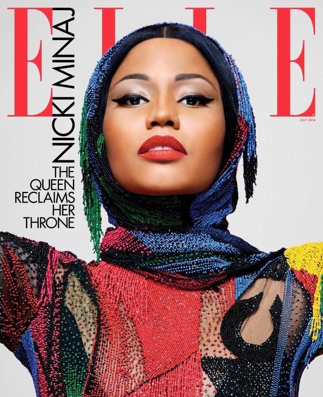 US Elle July 2018 : Nicki Minaj by Karl Lagerfeld