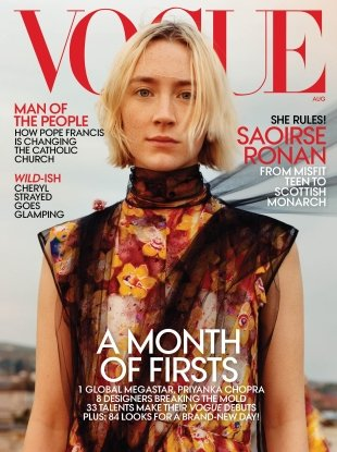 US Vogue August 2018 : Saoirse Ronan by Jamie Hawkesworth