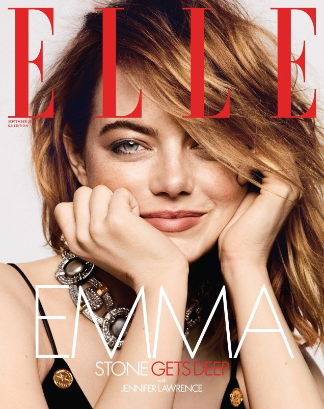 US Elle September 2018 : Emma Stone by Ben Hassett