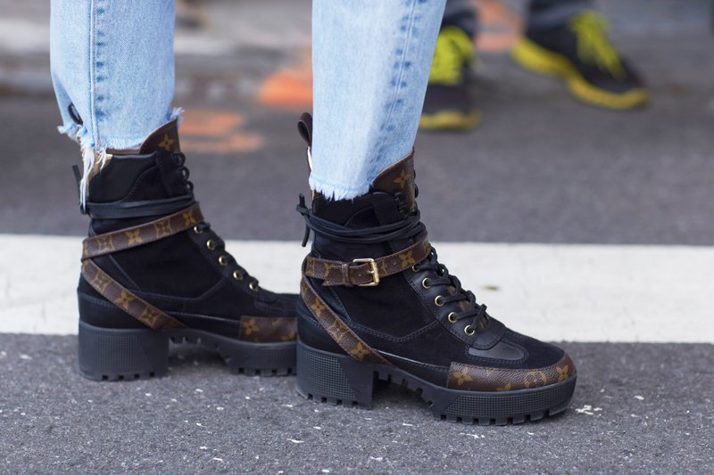 Hiking boots worn to NYFW Spring 2018