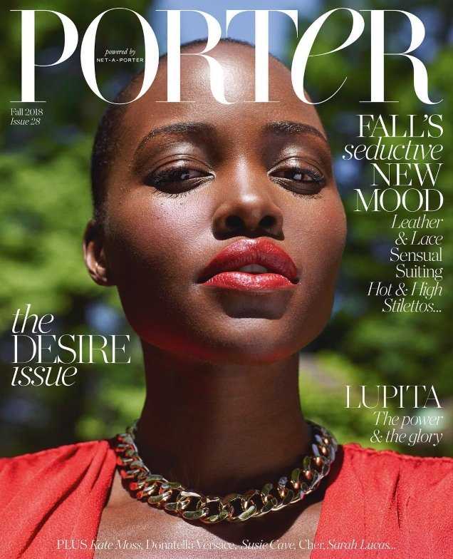 Porter #28 Fall 2018 : Lupita Nyong'o by Mario Sorrenti