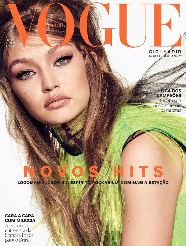 Vogue Brazil September 2018 : Gigi Hadid by Luigi & Iango