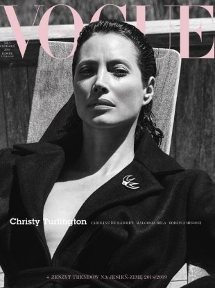 Vogue Poland September 2018 : Christy Turlington by Chris Colls