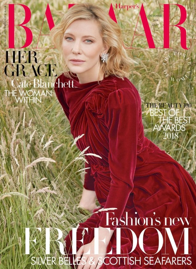 UK Harper's Bazaar October 2018 : Cate Blanchett by Will Davidson