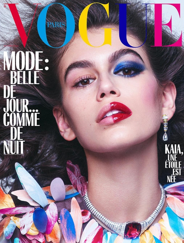 Vogue Paris October 2018 : Kaia Gerber by Mikael Jansson