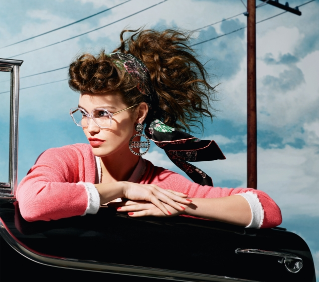 Chanel Eyewear F/W 2018.19 : Luna Bijl by Karl Lagerfeld