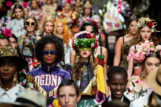 The finale at Dolce & Gabbana Spring 2019.