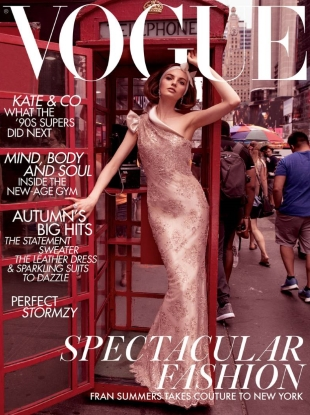 UK Vogue November 2018 : Fran Summers by Inez van Lamsweerde & Vinoodh Matadin