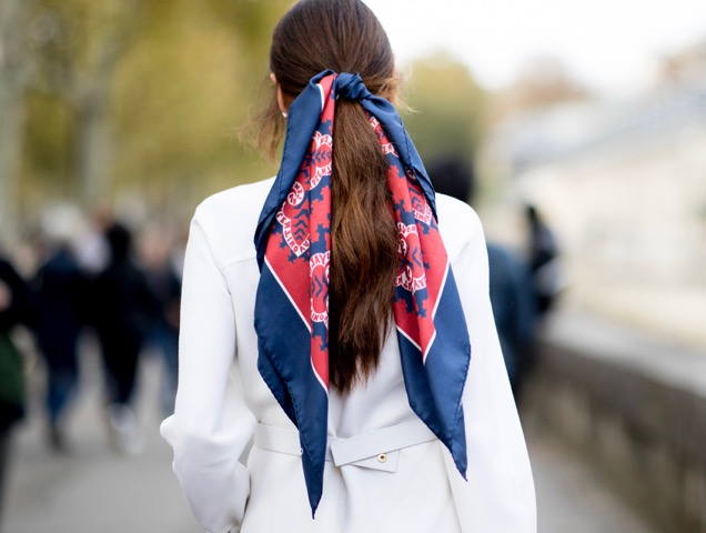 A silk scarf used as decoration on the streets.