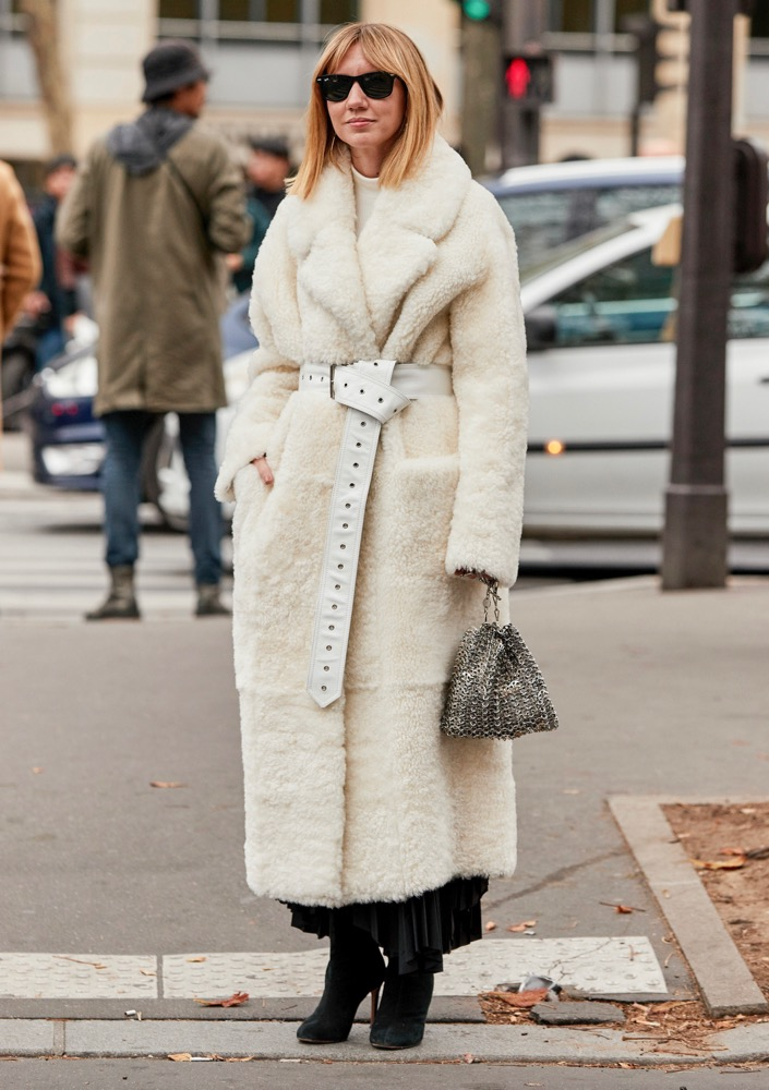 Wrap up a cozy coat with a statement belt.