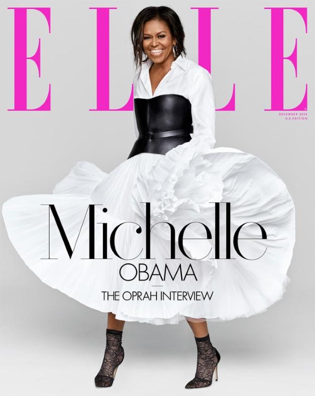 US Elle December 2018 : Michelle Obama by Miller Mobley