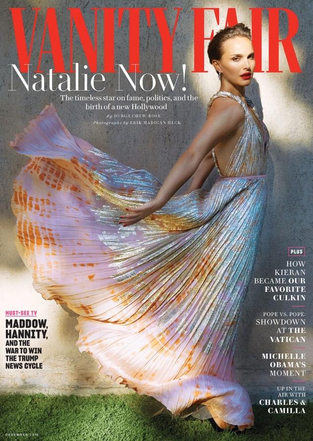 Vanity Fair December 2018 : Natalie Portman by Erik Madigan Heck