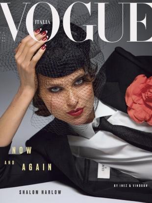 Vogue Italia December 2018 : Shalom Harlow by Inez van Lamsweerde & Vinoodh Matadin