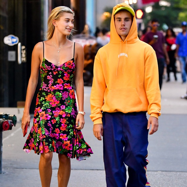 Hailey Baldwin and Justin Bieber in New York City.
