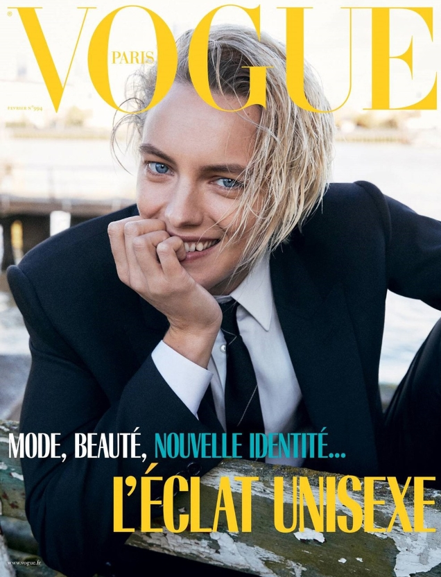 Vogue Paris February 2019 : Erika Linder by Mikael Jansson