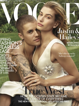 US Vogue March 2019 : Hailey & Justin Bieber by Annie Leibovitz
