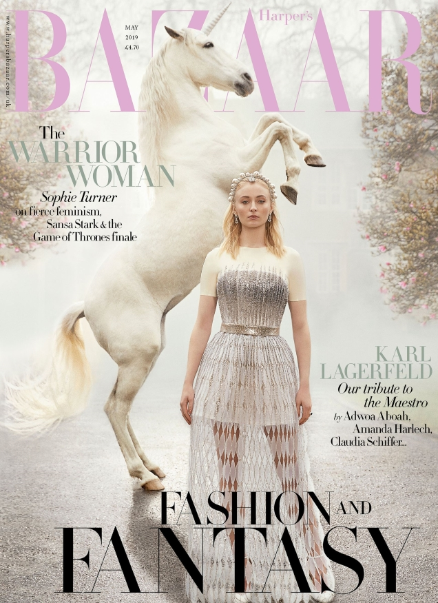 ac5d56f0 Sophie Turner Enchants on the Covers of British Harper's Bazaar for May  2019 | The Fashion Spot | Bloglovin'