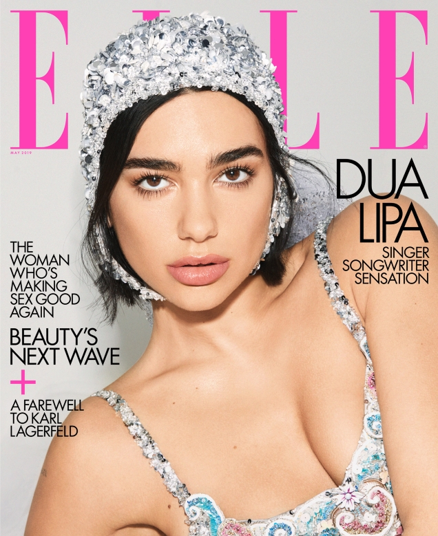 US Elle May 2019 : Dua Lipa by Carin Backoff