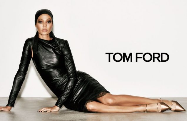 Joan Smalls for Tom Ford Spring 2019.