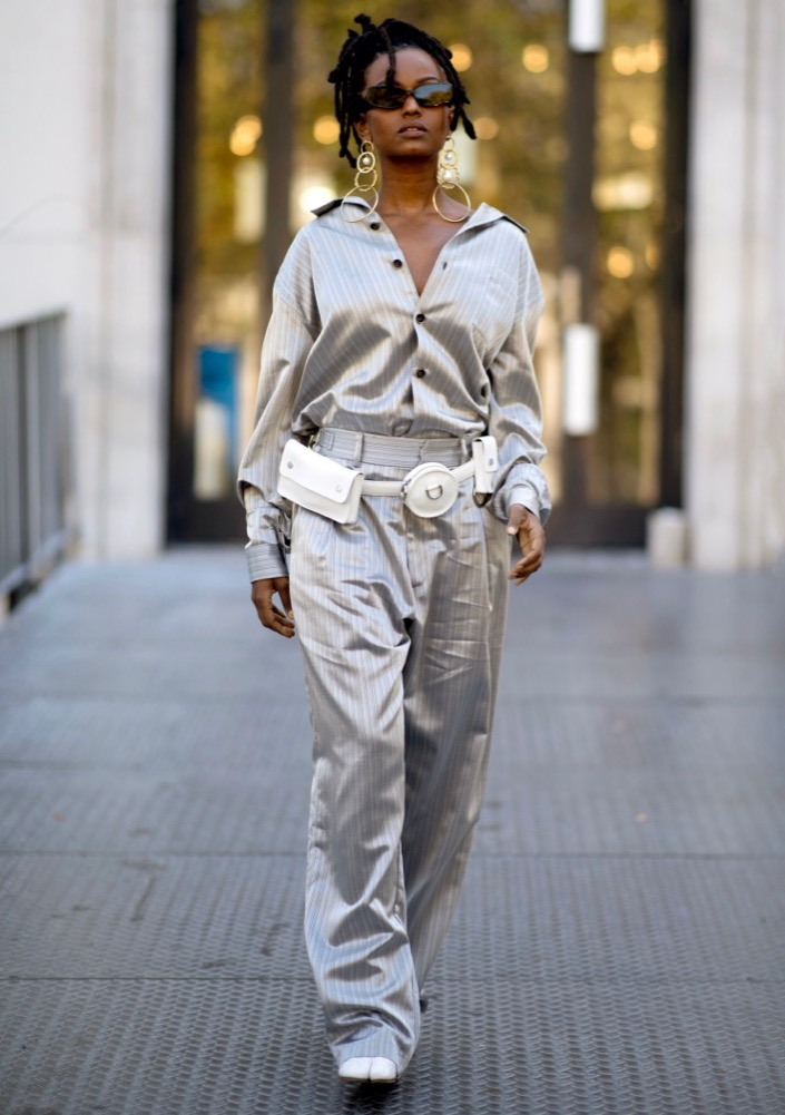 Utility belt bags are street style faves.