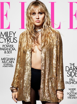 US Elle August 2019 : Miley Cyrus by Mario Sorrenti