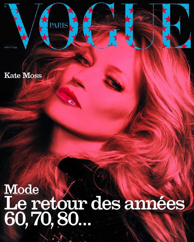 Vogue Paris August 2019 : Kate Moss by Inez van Lamsweerde & Vinoodh Matadin
