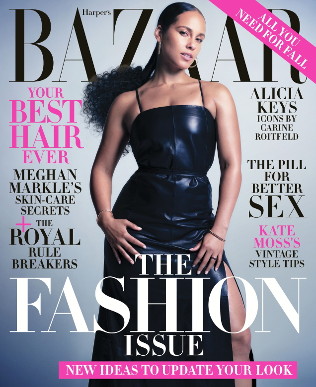 US Harper's Bazaar September 2019 : Alicia Keys by Mario Sorrenti