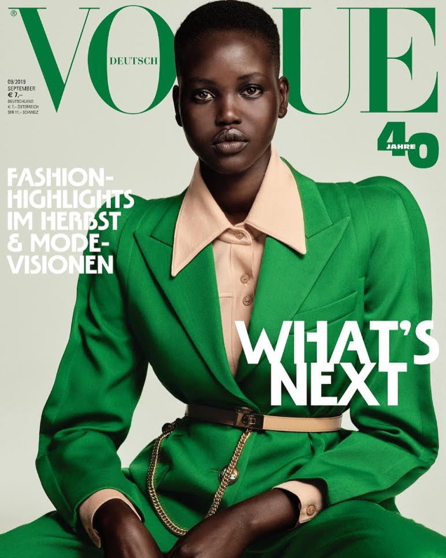 Adut Akech and Rebecca Leigh Longendyke Compete for Greatest Vogue Germany September 2019 Cowl