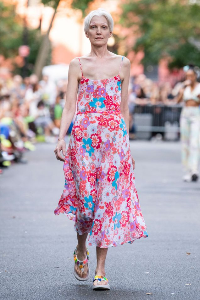 Kathleen McCain Engman on the Collina Strada Spring 2020 runway.
