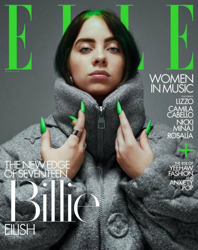 US Elle October 2019 : Billie Eilish, Lizzo & Camila Cabello by Yvan Fabing