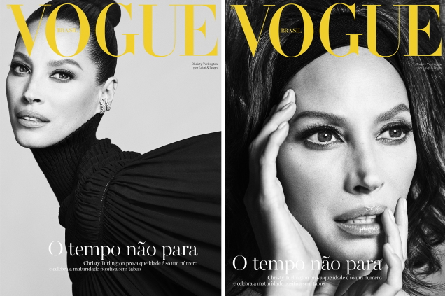 Vogue Brazil October 2019 : Christy Turlington by Luigi & Iango