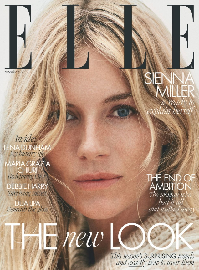 UK Elle November 2019 : Sienna Miller by Cass Bird